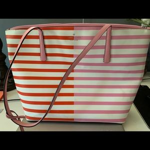 Kate spade stripped tote